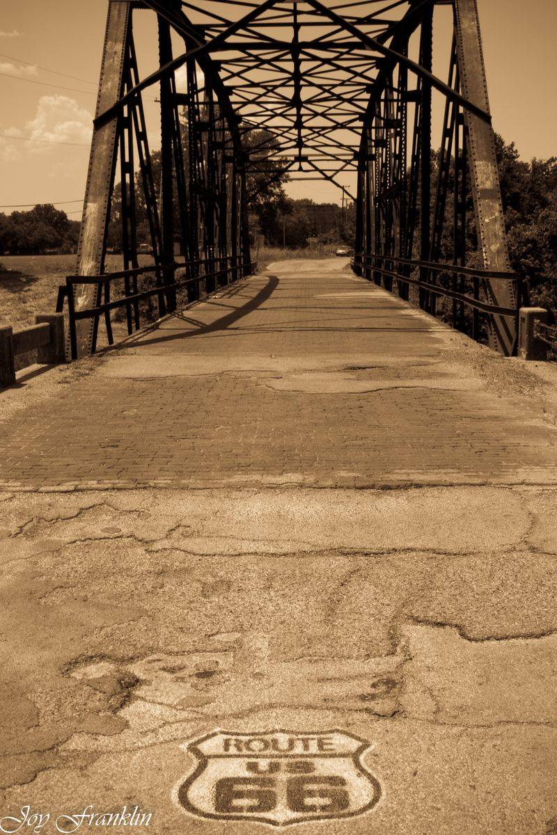 Route 66 bridge sepia (1 of 1)