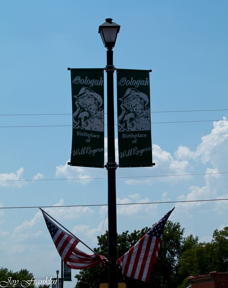 Will Rogers banner in Oolagah (1 of 1)