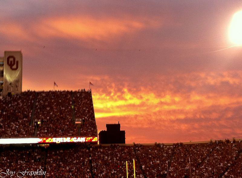 OU Football Sunset 2 (1 of 1)