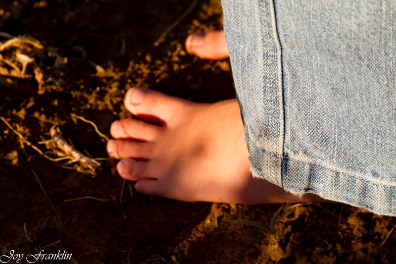 Toes in the dirt  (1 of 1)