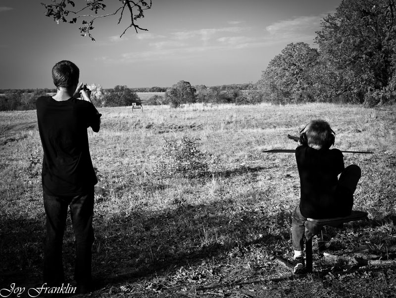 Boys out Shooting Guns-202