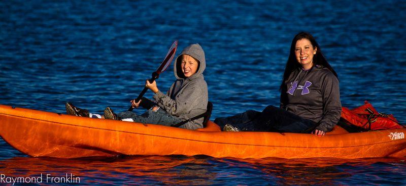Justin and Joy Kayaking