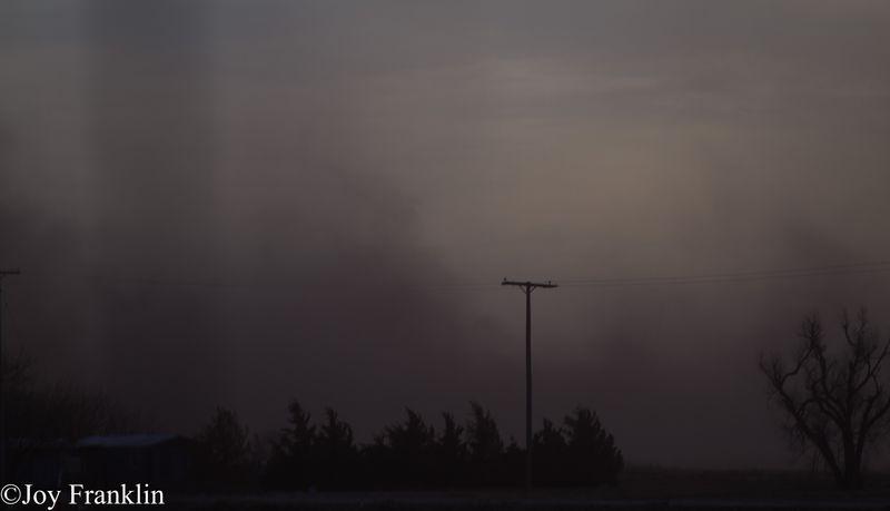 Dust Storm on New Years Eve 2011 near Blair Oklahoma