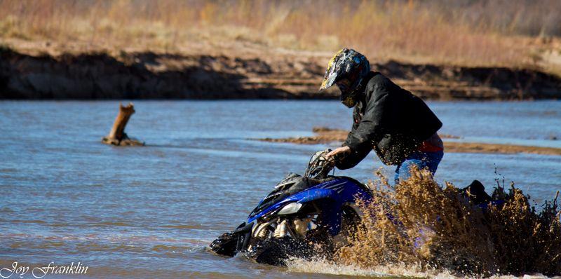 Four Wheeler stuck in river-090