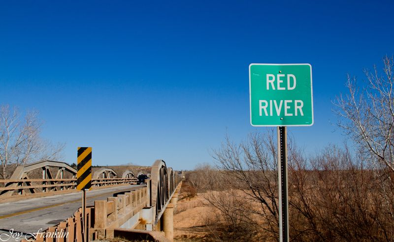 Red River Sign and Bridge-210