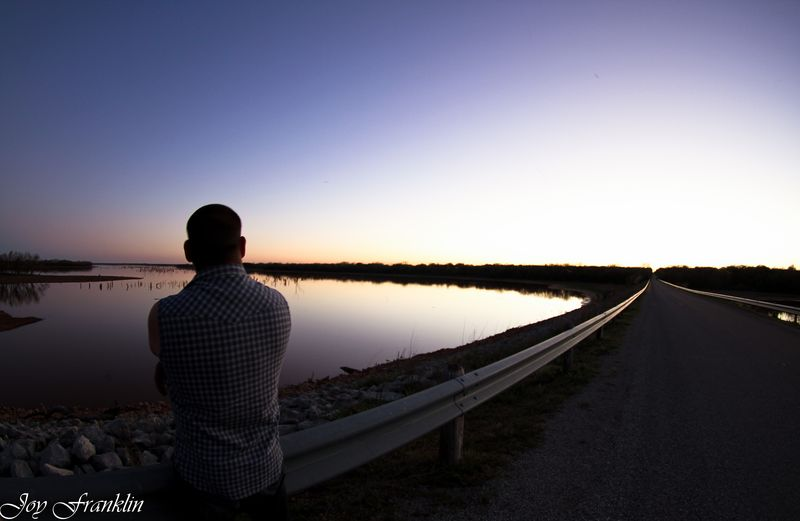 At Waurika Lake at sunset