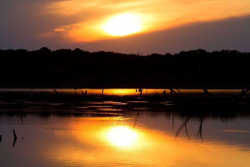 May Sunset on Lake Fuqua (1 of 1)