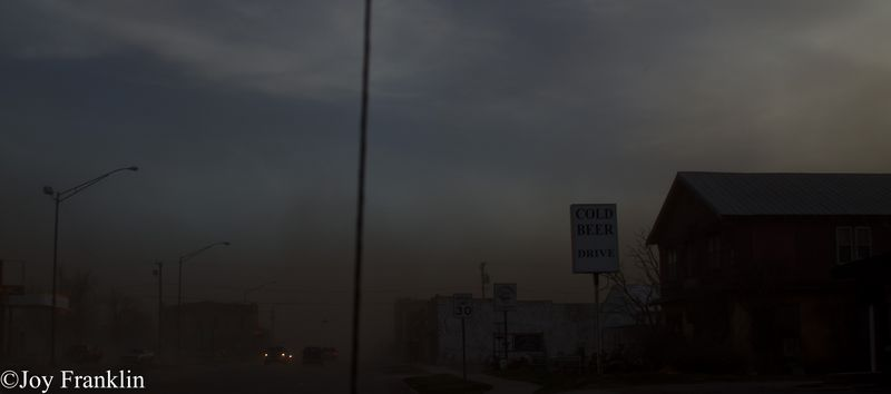 Blair Dust Storm on New Years Eve