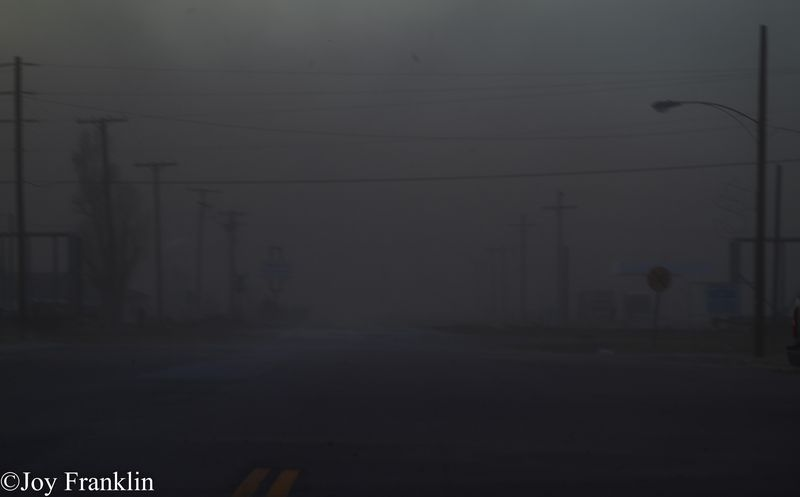 Blair Dust Storm on New Years Eve 2