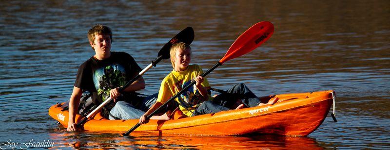 My Boys Rowing the kayak (1 of 1)