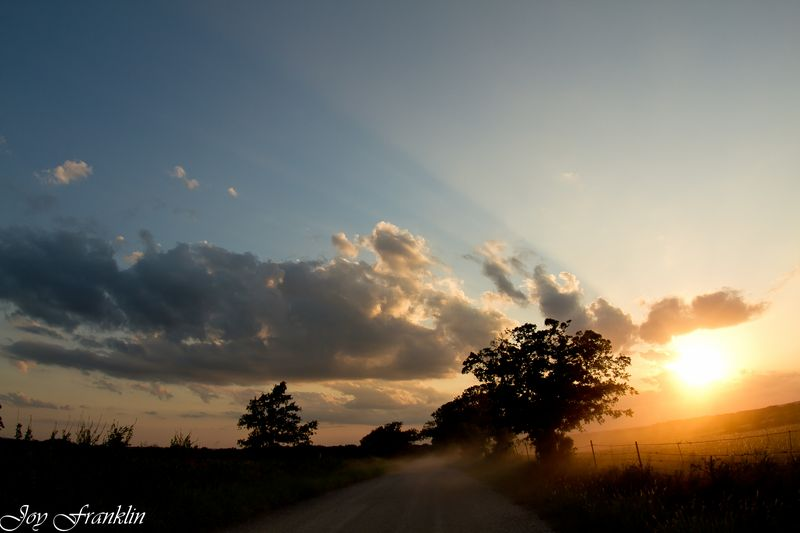 Sunset on a Gravel Road in Oklahoma-2125