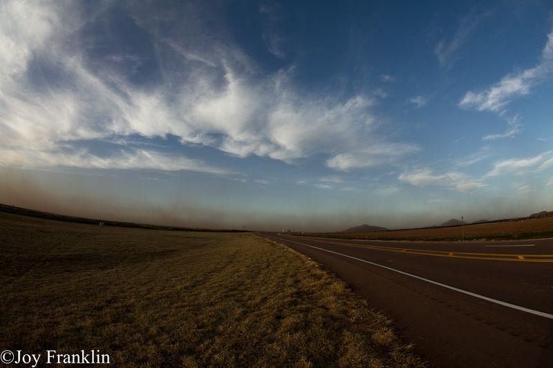 Dust Storm on the Horizon towards Mangum