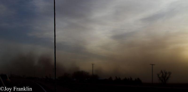 Dust Storm near Blair Oklahoma 12 31 2011