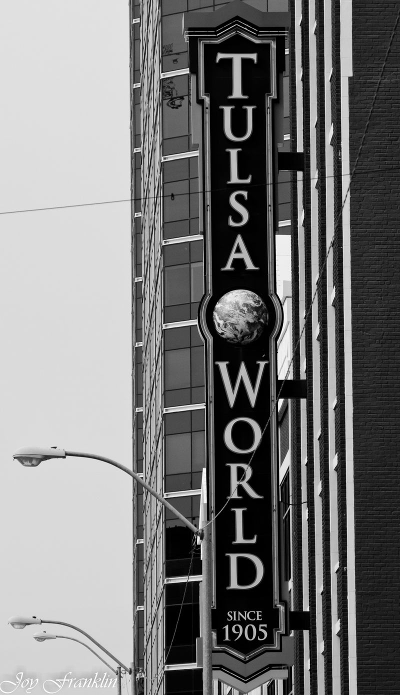 Tulsa World Sign