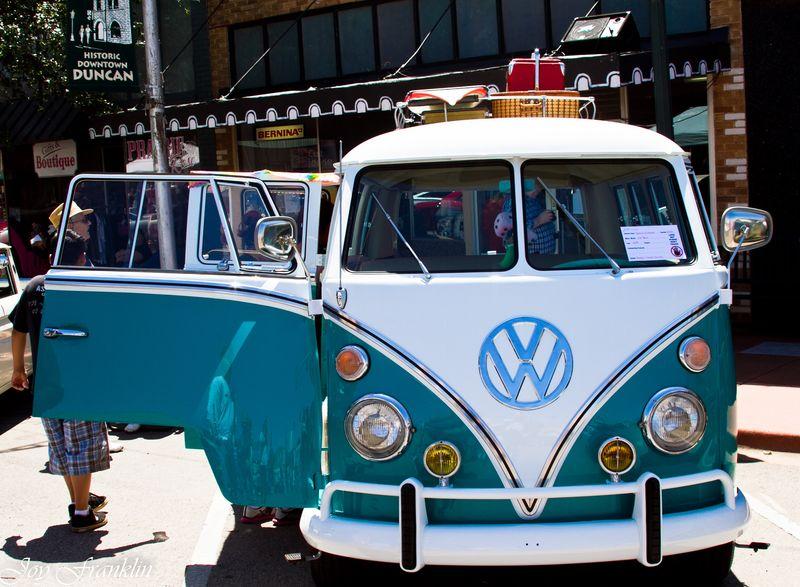 Old VW Van at Duncan Car Show-1