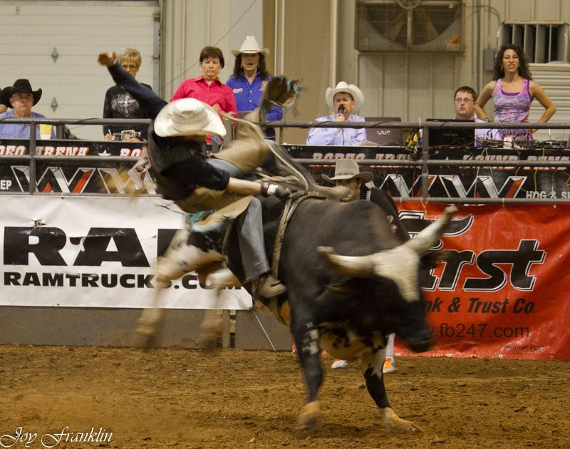 Bull Riding at the Chisholm Trail Stampede (1 of 1)