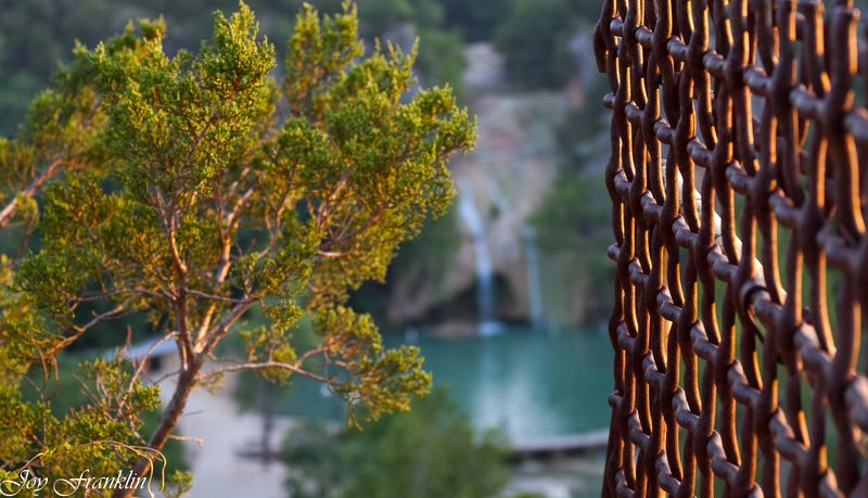 Turner falls fence sunset-2590