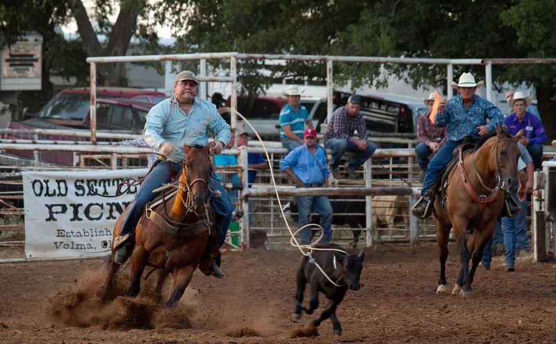 Calf roping at velma picnic-4444