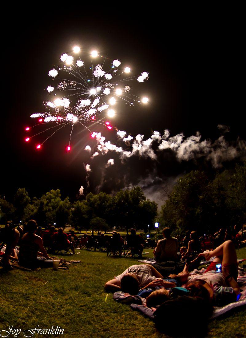 Fireworks in Marlow Oklahoma by Joy Franklin-3354