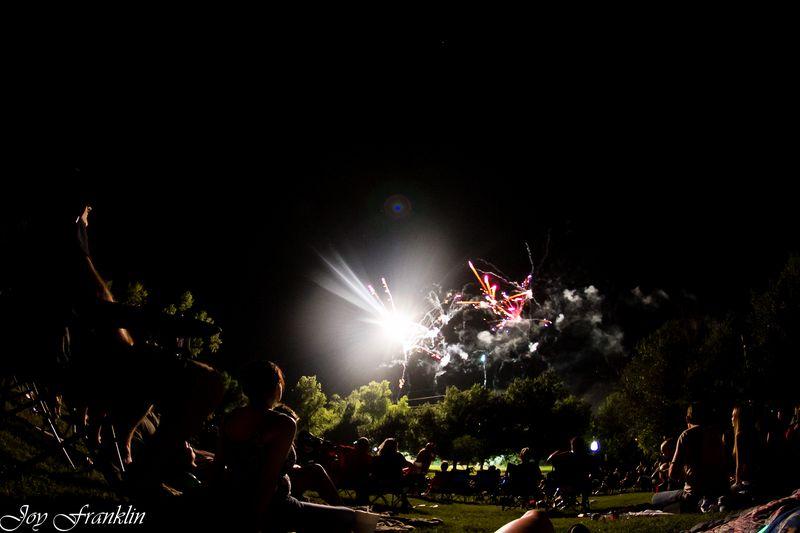 Fireworks using the Fisheye-3121