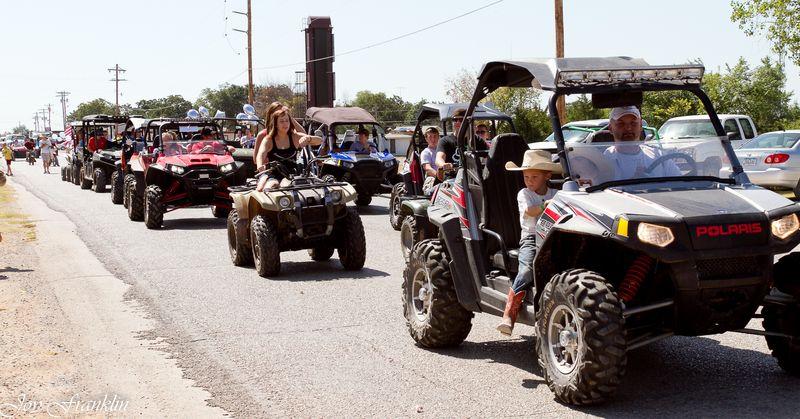 ATVs on parade in Velma-4823