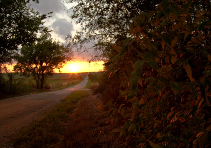 Sunset east of Duncan -8336
