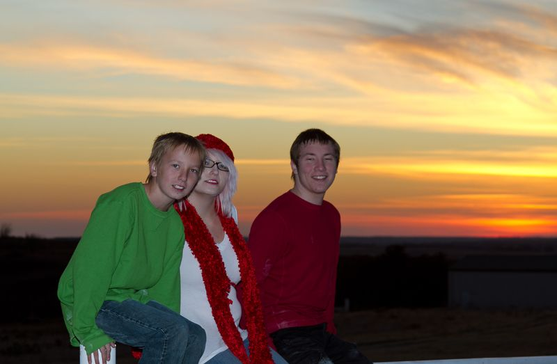 Kids and the sunset-3560