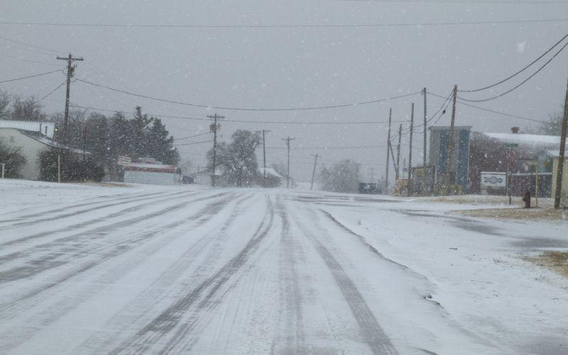 White Christmas in Velma Oklahoma 2012