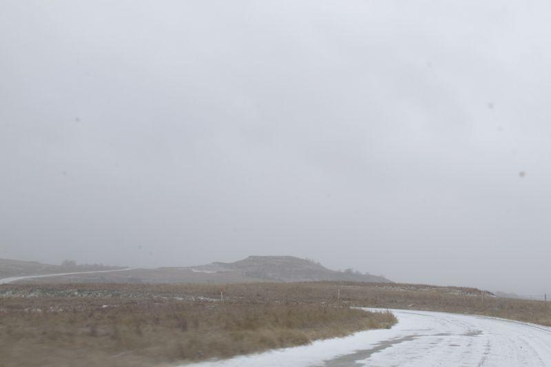 Christmas Snow in Stephens County Oklahoma