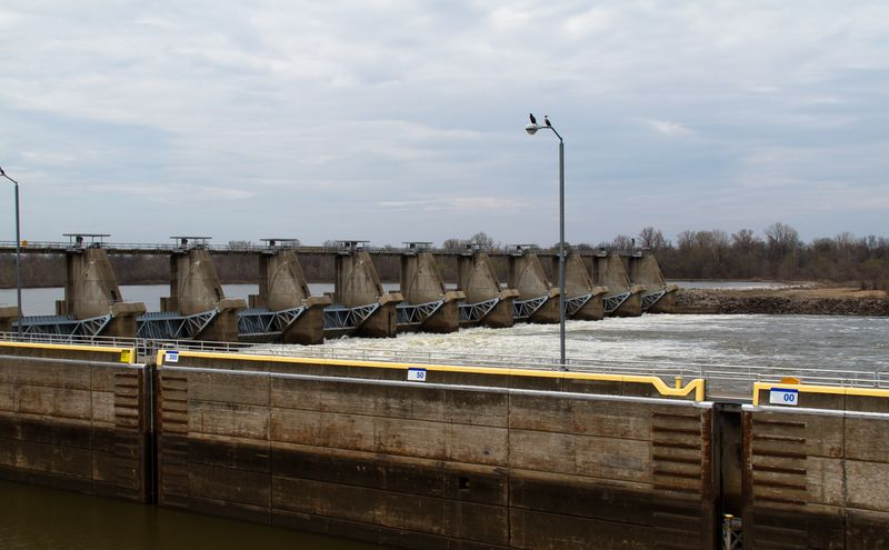 Dam on Arkansas River near Spiro-9441