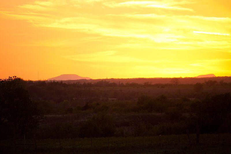 Agawam Sunset of the Wichita Mountains-1851