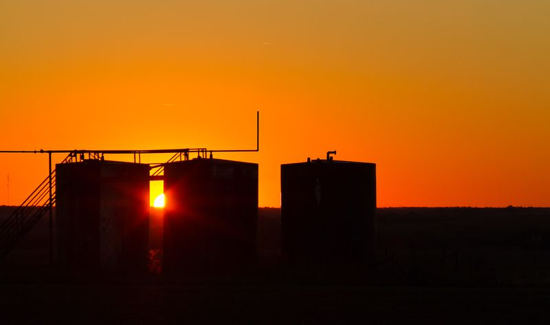 Oil Tank Sunset-2073