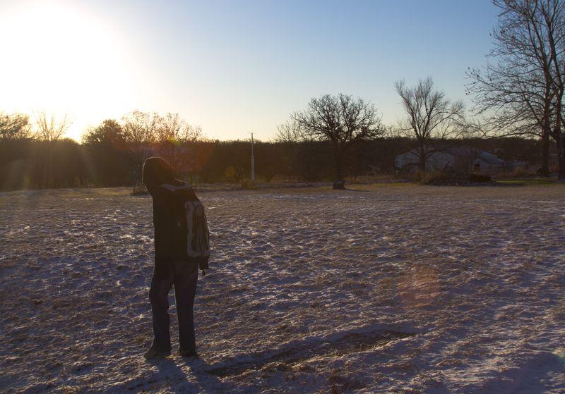 Justin in the snow at Velma