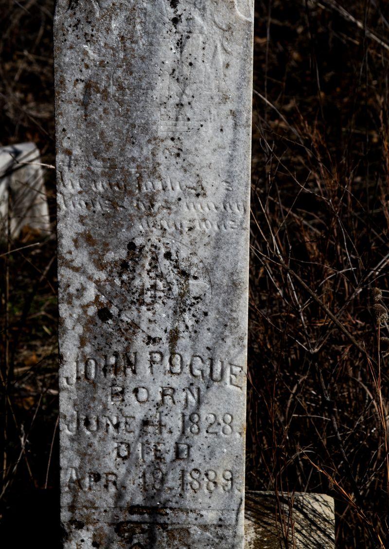 John Pogue born 1828 died 1889 Passmore Cemetery Velma-7715