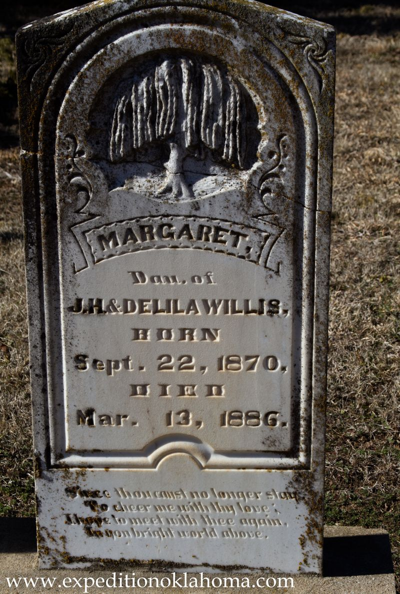 Margaret Willis  buried at Ft. Towson-7156
