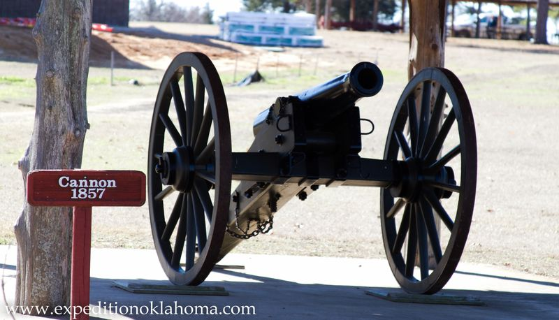 1857 Cannon at Ft. Towson Oklahoma-7086