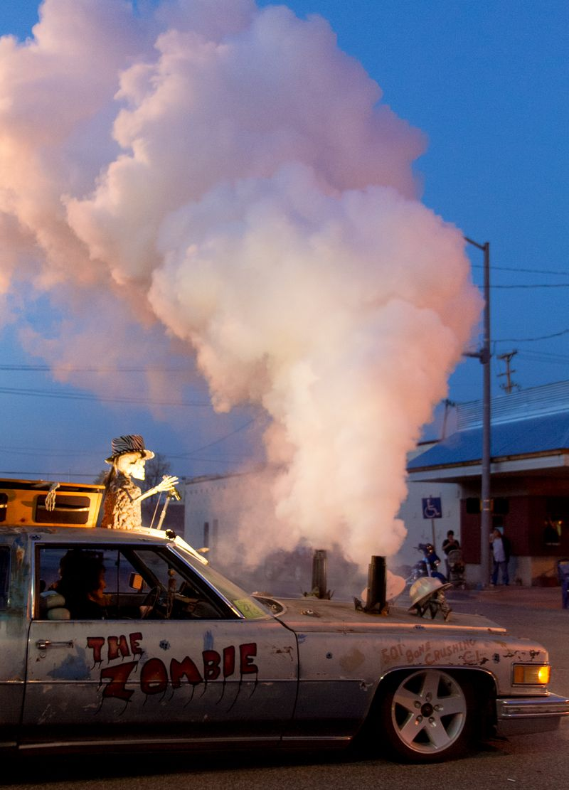 Zombie car Cruisin' in Duncan Oklahoma -0667