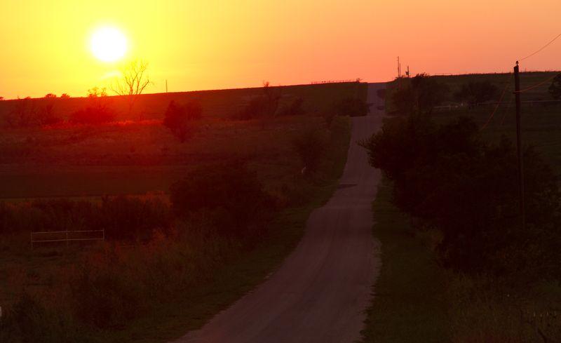 Sunset east of Duncan -8354