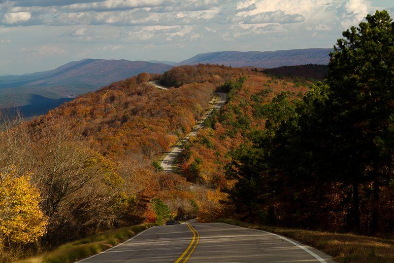 Talimena Drive in the Fall -2737