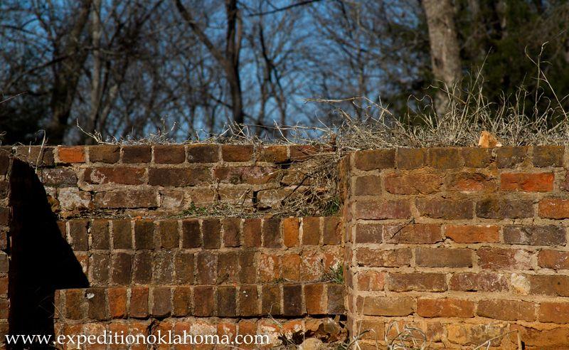Old brick steps at Ft. Towson-7114