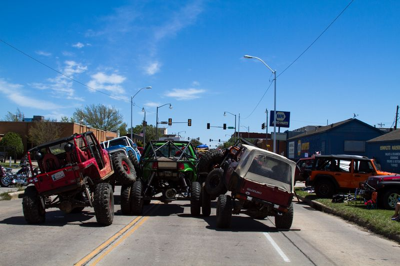 Jeeps blocking the streets of Duncan-0792