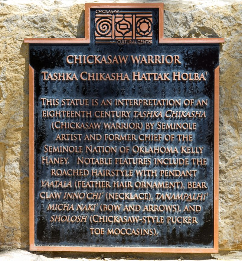 Chickasaw Warrior Sign-0862