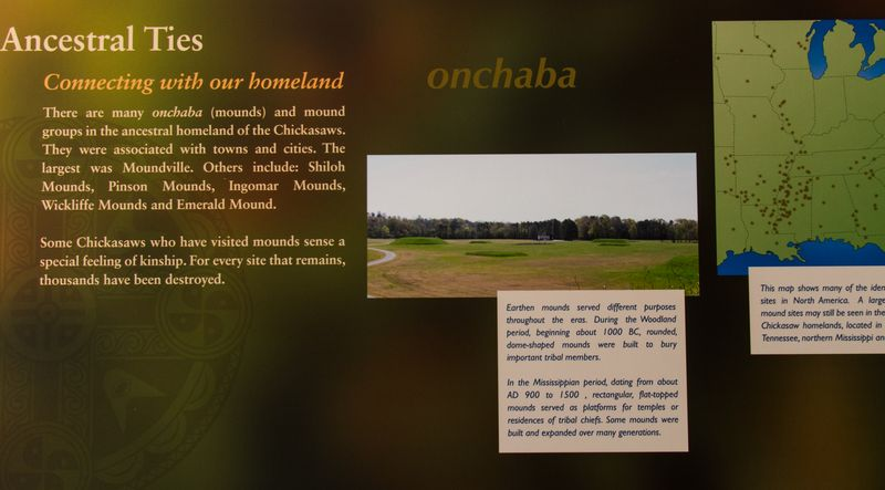 Onchaba -Mounds- in Chickasaw at the cultural center. mound builders-0886