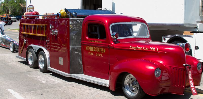 Mark Smith Rocket Firetruck in Duncan OK-0784