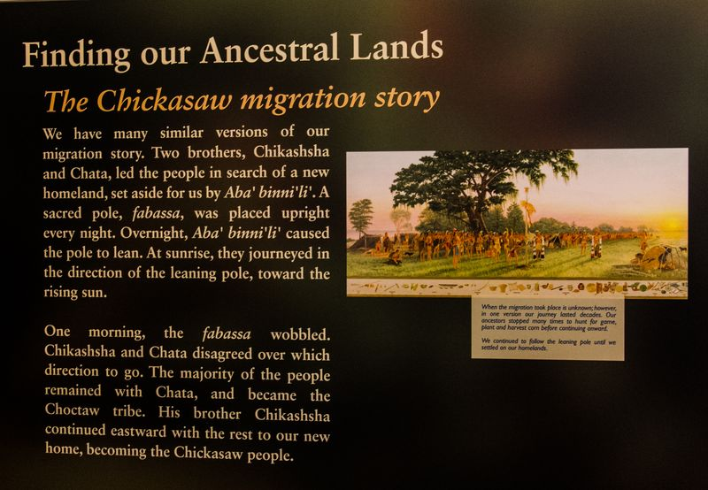 Choctaw and Chickasaw Migration story at the Chickasaw Cultural Center-0889