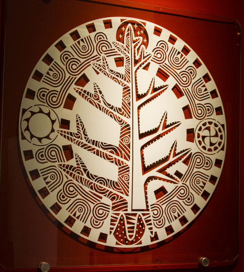Mound builder symbolism at the Chickasaw Cultural Center-0878