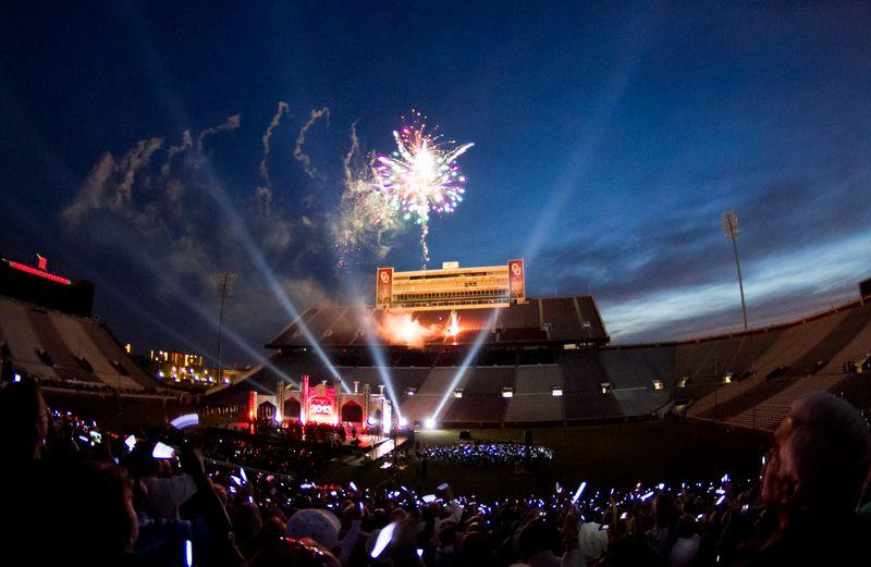 Fireworks at OU Graduation 2013-2319