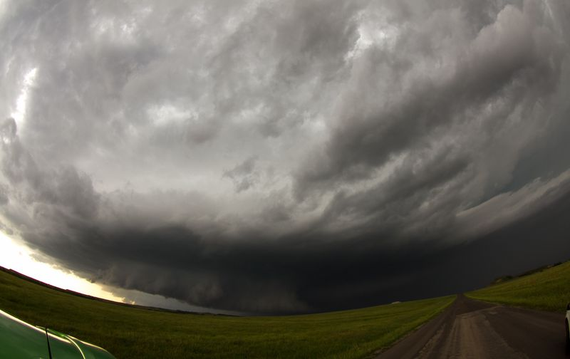 Under a Tornado Warning near Velma Oklahoma-3911
