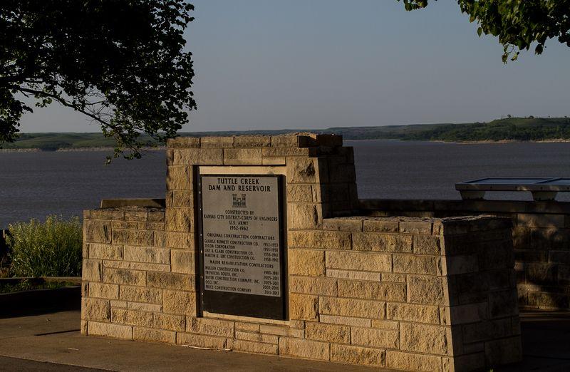 Tuttle Creek Dam and Lake near Manhattan Kansas-4478