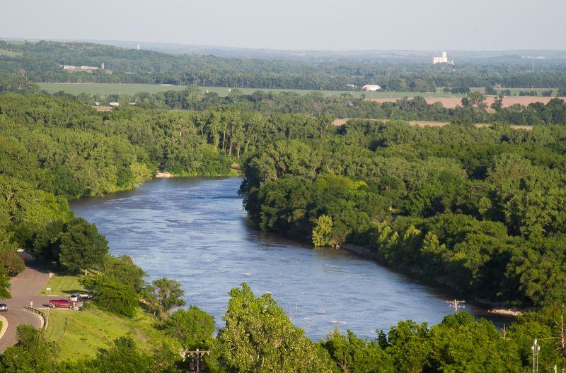 Tuttle Creek Dam and Lake near Manhattan Kansas-4516